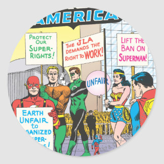 Justice League of America Issue #28 - June Classic Round Sticker