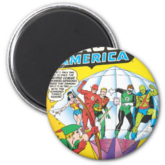 Justice League of America Issue #4 - May 6 Cm Round Magnet
