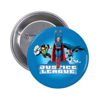 Justice League Power Trio 6 Cm Round Badge