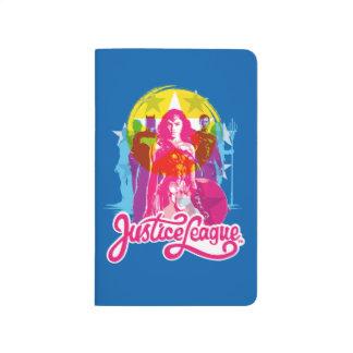 Justice League   Retro Group & Logo Pop Art Journal