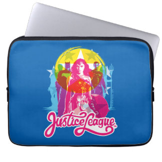 Justice League | Retro Group & Logo Pop Art Laptop Sleeve
