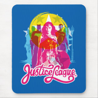 Justice League | Retro Group & Logo Pop Art Mouse Mat