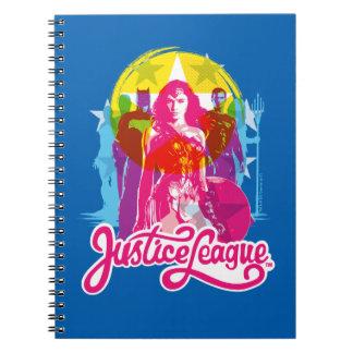 Justice League | Retro Group & Logo Pop Art Spiral Notebook