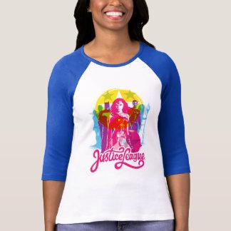 Justice League | Retro Group & Logo Pop Art T-Shirt