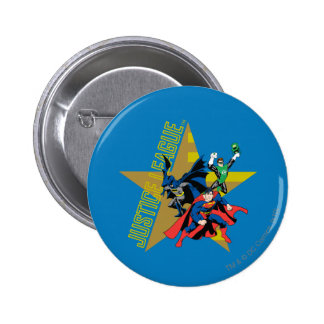 Justice League Star Heroes 6 Cm Round Badge