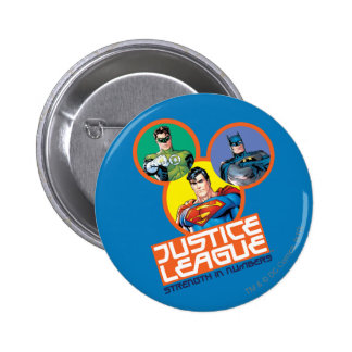 """Justice League """"Strength in Numbers"""" 6 Cm Round Badge"""