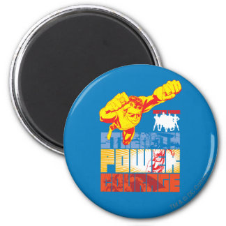 Justice League Strength. Power. Courage. Character 6 Cm Round Magnet