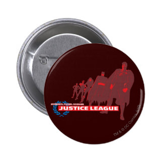 Justice League Strength. Power. Courage. Ensemble 6 Cm Round Badge