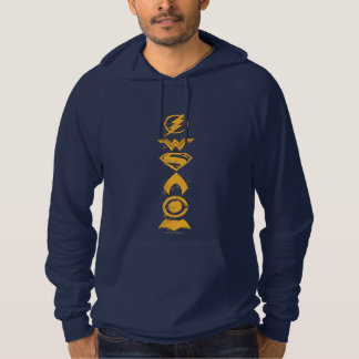 Justice League | Stylized Team Symbols Lineup Hoodie