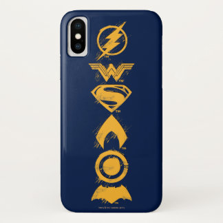 Justice League | Stylized Team Symbols Lineup iPhone X Case