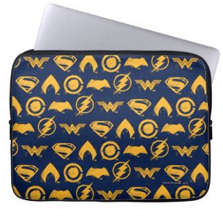 Justice League | Stylized Team Symbols Lineup Laptop Sleeve