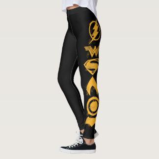 Justice League   Stylized Team Symbols Lineup Leggings