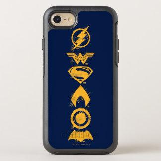 Justice League | Stylized Team Symbols Lineup OtterBox Symmetry iPhone 8/7 Case