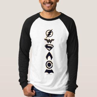 Justice League   Stylized Team Symbols Lineup T-Shirt