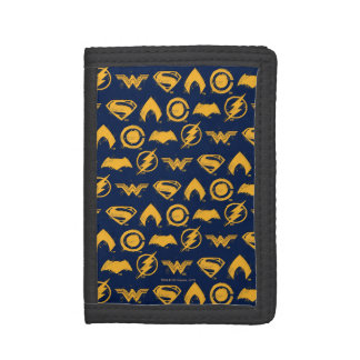 Justice League | Stylized Team Symbols Lineup Tri-fold Wallets