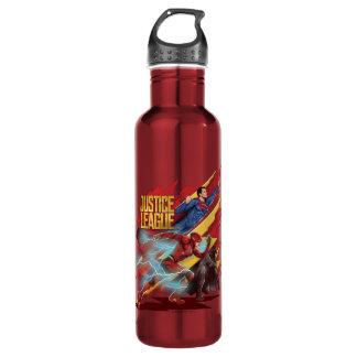 Justice League | Superman, Flash, & Batman Badge 710 Ml Water Bottle