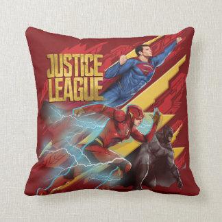Justice League | Superman, Flash, & Batman Badge Cushion