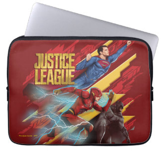 Justice League | Superman, Flash, & Batman Badge Laptop Sleeve