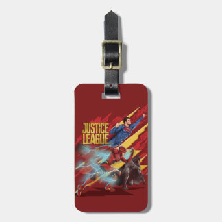 Justice League | Superman, Flash, & Batman Badge Luggage Tag
