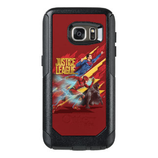 Justice League | Superman, Flash, & Batman Badge OtterBox Samsung Galaxy S7 Case