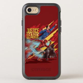 Justice League | Superman, Flash, & Batman Badge OtterBox Symmetry iPhone 8/7 Case