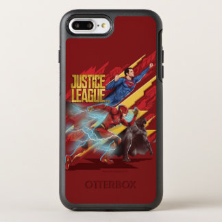 Justice League | Superman, Flash, & Batman Badge OtterBox Symmetry iPhone 8 Plus/7 Plus Case