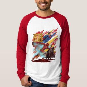 7c32e62b Justice League   Superman, Flash, & Batman Badge T-Shirt