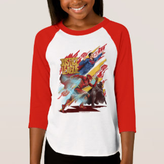 Justice League | Superman, Flash, & Batman Badge T-Shirt