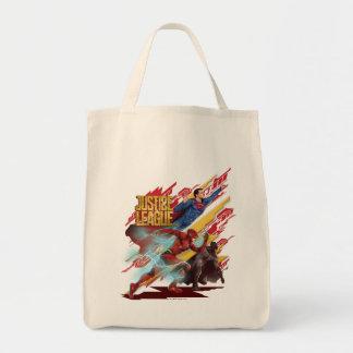 Justice League | Superman, Flash, & Batman Badge Tote Bag