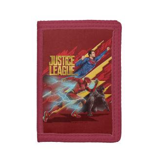 Justice League | Superman, Flash, & Batman Badge Tri-fold Wallet