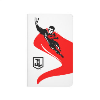 Justice League   Superman Flying Noir Pop Art Journal