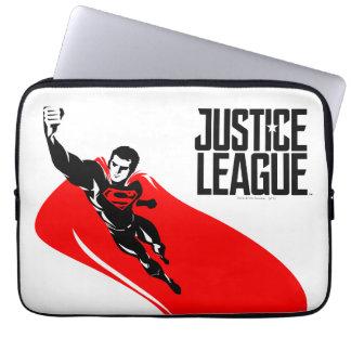 Justice League | Superman Flying Noir Pop Art Laptop Sleeve