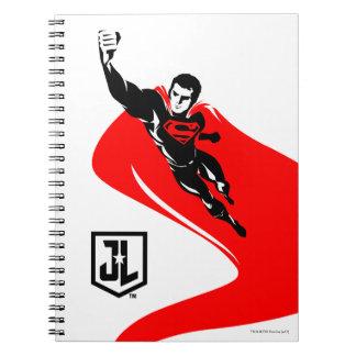 Justice League | Superman Flying Noir Pop Art Notebook