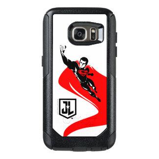 Justice League | Superman Flying Noir Pop Art OtterBox Samsung Galaxy S7 Case