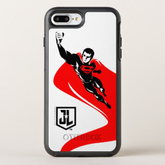 Justice League | Superman Flying Noir Pop Art OtterBox Symmetry iPhone 8 Plus/7 Plus Case