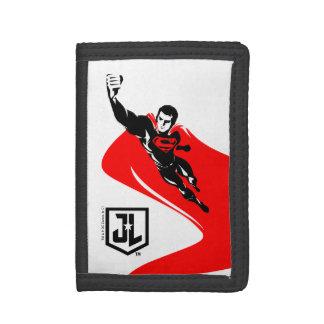 Justice League | Superman Flying Noir Pop Art Tri-fold Wallets