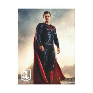 Justice League | Superman On Battlefield Canvas Print