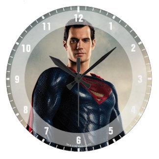 Justice League   Superman On Battlefield Large Clock