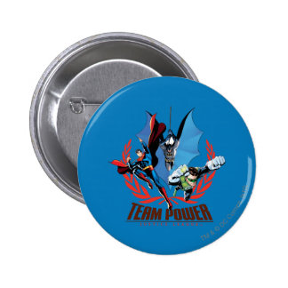 Justice League Team Power 6 Cm Round Badge