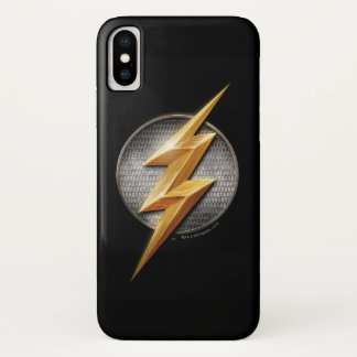 Justice League | The Flash Metallic Bolt Symbol iPhone X Case