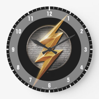 Justice League | The Flash Metallic Bolt Symbol Large Clock