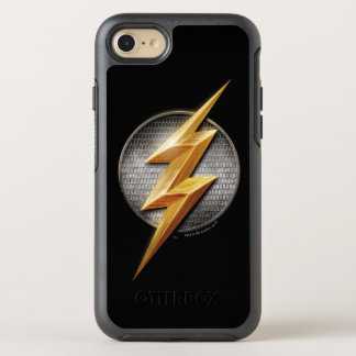 Justice League | The Flash Metallic Bolt Symbol OtterBox Symmetry iPhone 8/7 Case