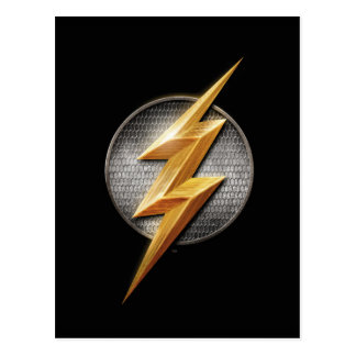 Justice League | The Flash Metallic Bolt Symbol Postcard
