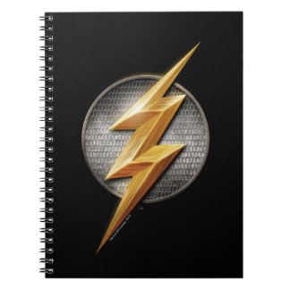 Justice League | The Flash Metallic Bolt Symbol Spiral Notebook