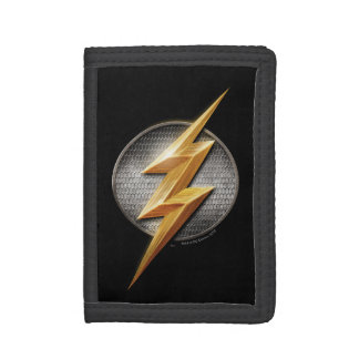 Justice League | The Flash Metallic Bolt Symbol Trifold Wallets