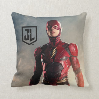 Justice League   The Flash On Battlefield Cushion