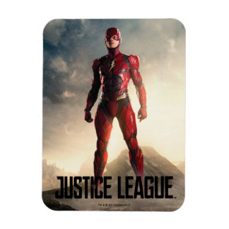 Justice League   The Flash On Battlefield Magnet