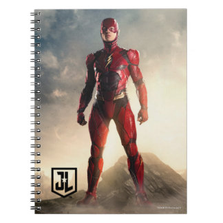 Justice League | The Flash On Battlefield Notebook