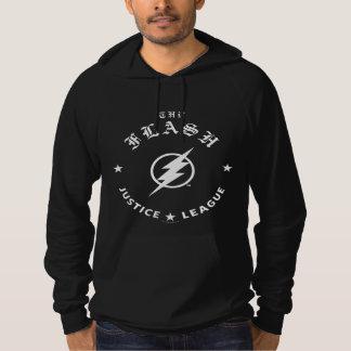 Justice League   The Flash Retro Lightning Emblem Hoodie