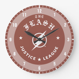 Justice League | The Flash Retro Lightning Emblem Large Clock